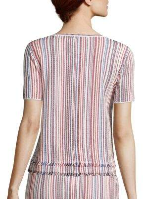 BOSS Fina Striped Knit Top