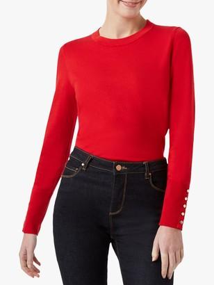 Hobbs Paula Long Sleeve Button Cuff Sweater