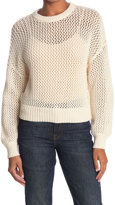 Frame Open Knit Crew Sweater