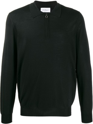 Salvatore Ferragamo Gancini zip polo shirt
