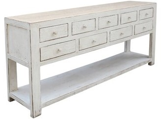 "Gracie Oaks DeJuana 70"" Wide 9 Drawer Pine Wood Sideboard"