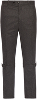 Alexander McQueen Harness-cuff slim-leg wool trousers