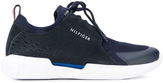 Tommy Hilfiger suede panel trainers