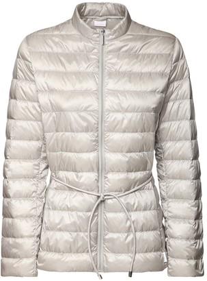 Max Mara Belted Nylon Zip-Up Down Jacket