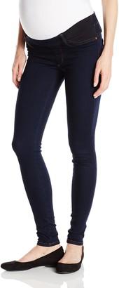 James Jeans Women's Twiggy Under Belly Maternity Legging Jean in Blue Velvet 28