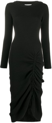 Preen by Thornton Bregazzi Gathered Ribbed Knit Dress