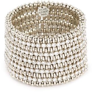 Philippe Audibert 'Amelia' Swarovski crystal bead mini five row bracelet