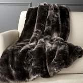 CB2 Premium Grey Faux Fur Throw