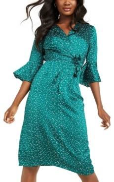 Quiz Bell-Sleeve Midi Dress
