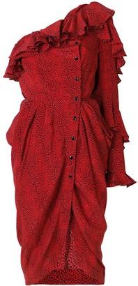 Philosophy di Lorenzo Serafini one shoulder asymmetric dress