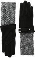 Lauren Ralph Lauren Knit Cuff Suede Gloves