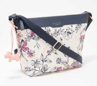 RADLEY London Leather Sketchy Floral Medium Zip Top Crossbody