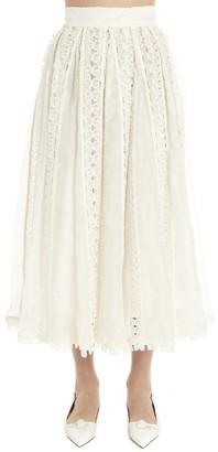 Zimmermann Super Eight Butterfly Embroidered Skirt