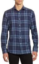Ralph Lauren Purple Label Aston Slim-Fit Tonal Plaid Button-Down Shirt