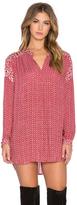 Velvet by Graham & Spencer Alima Casablanca Print Long Sleeve V Neck Top