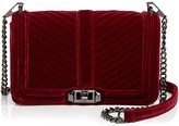 Rebecca Minkoff Love Chevron Quilted Velvet Crossbody