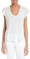 Rebecca Taylor Women's Flutter Sleeve Linen & Cotton Knit Top
