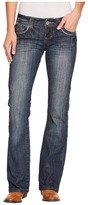 Stetson 818 Fit Medium Wash with Fancy Contrast Stitching Women's Clothing