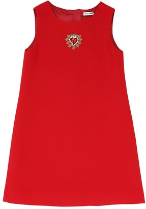 Dolce & Gabbana Cady Dress W/ Patches