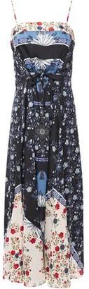 Sandro Niels Floral-print Satin-twill Midi Slip Dress