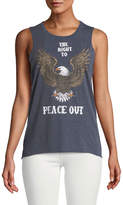 Chaser Peace Out Bald Eagle Cotton-Blend Tank