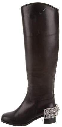 Chanel Paris-Dallas Embellished Boots