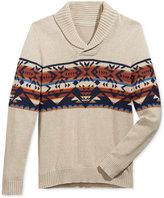American Rag Men's Snowflake Geo Shawl-Collar Sweater, Only at Macy's