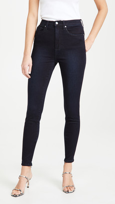 WeWoreWhat High Rise Skinny Ankle Zip Jeans