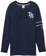 PINK Tampa Bay Rays Bling Lace-up Varsity Crew