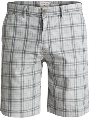 Quiksilver Young Mens Regeneration Plaid Shorts Shorts