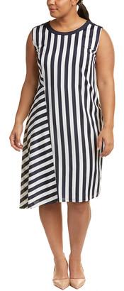 Marina Rinaldi Plus Dispari Silk-Blend Shift Dress