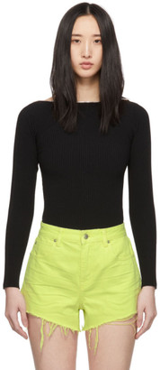 Alexander Wang Black Moving Rib Splittable Sweater