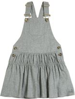 Chloé Cotton Blend Flannel Overall Dress
