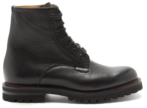 Church's Coalport Grained-leather Boots - Black