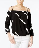 Bar III Off-The-Shoulder Ruffle Top, Only at Macy's