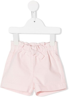 Il Gufo Bow Detail Plain Shorts