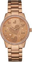 GUESS Women's Rose Gold-Tone Stainless Steel Bracelet Watch 40mm U0699L3