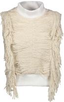 Sea Fringed cotton-blend bouclé turtleneck sweater