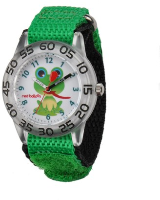 Red Balloon Kids' W001474 Plastic Analog Display Quartz Green Nylon Strap Watch