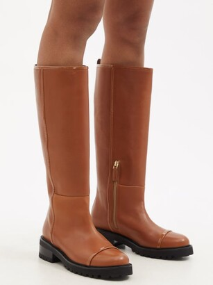 Malone Souliers Beda Leather Boots - Tan
