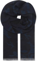 Sandro Camo Modal And Cashmere-blend Scarf