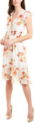 Elie Tahari Silk-Blend Midi Dress