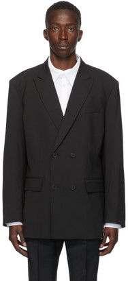 Valentino Black Double-Breasted Blazer