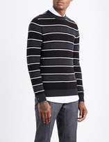 Salvatore Ferragamo Striped wool-blend jumper
