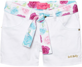 Lelli Kelly Kids White Denim Shorts with Floral Tie
