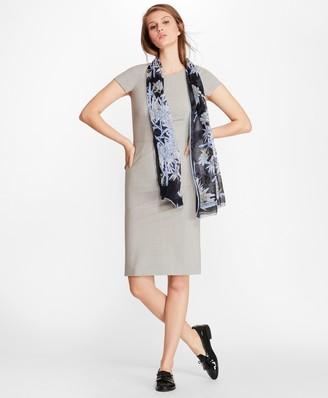 Brooks Brothers Petite Stretch-Wool Cap Sleeve Sheath Dress
