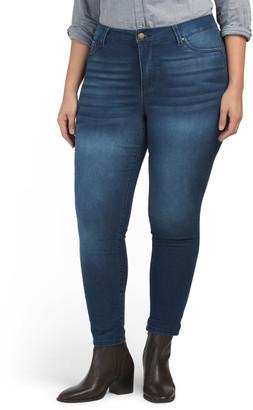 Plus High Waist Stretch Skinny Ankle Jeans
