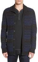 John Varvatos Men's Cable Knit Cardigan
