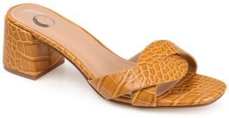 Journee Collection Perette Croc Embossed Sandal