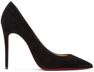 Christian Louboutin Black Suede Kate 100 Heels